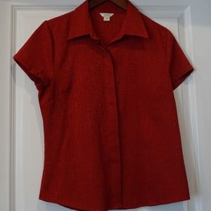 Christopher & Banks Red Med Women's top
